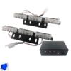 Εξωτερικά Φώτα Αστυνομίας STROBO LED 2×3 18W 10-30V IP65 Αδιάβροχα Μπλε GloboStar 77664